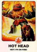 Skylanders Giants #165 Hot Head Rainbow Foil Trading Card