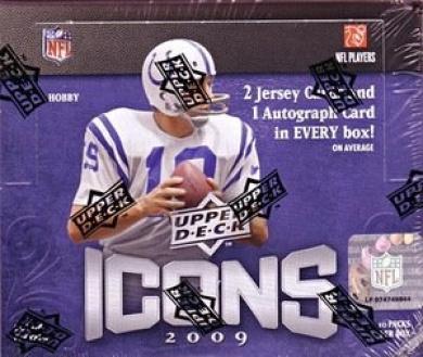 2009 Upper Deck Icons Football Hobby Box