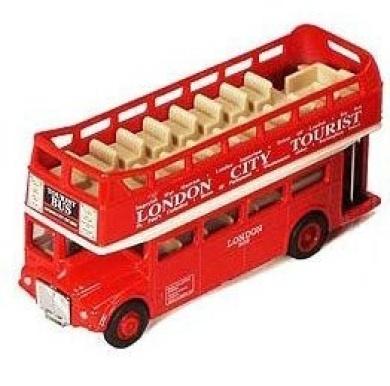 London Open Top Double Decker Tour Routemaster Red Bus Die-Cast Model 12cm