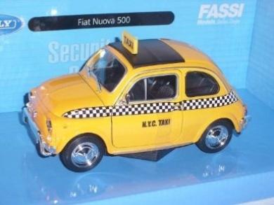Fiat 500 Klassik 1957 Gelb Taxi New York Nyc 1/24 Welly Modellauto Modell Auto