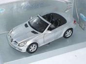 Mercedes-Benz Slk 350 W171 Cabrio Silber Silver W 171 Metallmodell 1/24 Welly Modellauto Modell Auto