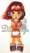 Little Darlings Saturated Canary Unmounted Rubber Stamp - Cocoa