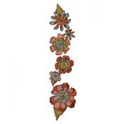 Sizzix Sizzlits Decorative Strip Die By Tim Holtz-Tattered Flower Garland 32cm x 6cm