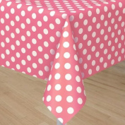 Unique 1.3 x 2.7m Polka Dot Plastic Table Cover