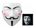 BeautyLife Anonymous V For Vendetta Guy Fawkes Fancy Dress Hallowee Face Mask White
