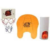 BestOfferBuy Novelty Toilet Bathroom Basketball Slam Dunk Game Toy Set