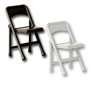 Black & Silver Folding Chair - Wrestling Figure Accessories