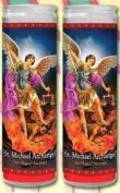 Set of 2 St Michael Prayer Candles 2 Veladoras De San Miguel Arcangel
