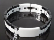 Energy Power Bracelet Health High-Tech Ceramic Armband Tungsten Magnetic Bio 046