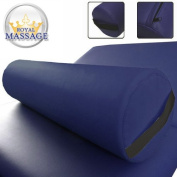 15cm Diameter Deluxe Oversized Massage Table 60cm Full Bolster - Navy Blue