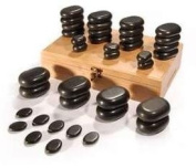 Hot Stones - 36 Piece Basalt Stone Essential Box Set for Massage
