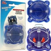 Magnifying Pill Cutter - Blue