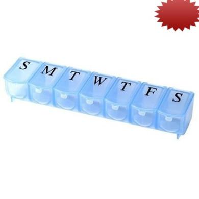 Apex 7-Day Pill Organiser, Ultra Bubble-Lok, 1 organiser (Pack of 2)