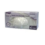 Cypress Medical Products Synthetic Vinyl Gloves Powder Free Large