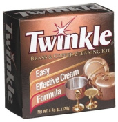 Twinkle Brass & Copper Cleaning Kit, Easy Effective Cream Formula, 4 3/240ml Box