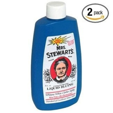 Mrs. Stewart's Concentrated Liquid Bluing - Great for Laundry - 240ml Bottle (Pack of 2)