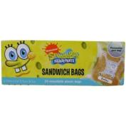 20 Spongebob Squarepants Sandwich Bags