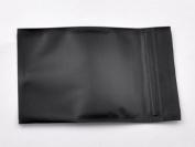 100 PCS Black Foil Clear Front Flat Ziplock Bag 8.5cm x 13cm 3.15'' x 5.12'