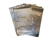 20 - 10cm x 15cm Aluminium Moisture Barrier Bag With Zipper Seal. Mylar!) - Includes 20 Free Silica Gel Packets!