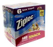 SC Johnson Ziplock Snack Bags 480 Bags