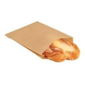 Bagcraft Papercon 300100 EcoCraft Grease-Resistant Single Serve Sandwich Bag, 20cm Length x 17cm Width x 2.5cm Height, NK25 Natural