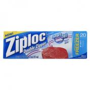 Ziploc Double Zipper Freezer Bags 1 Pint 20 ct