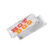"Bagcraft Papercon 763160cm Hot Dog"" Foil/Paper Single Serve Bag, 22cm Length x 8.9cm Width x 3.8cm Height"