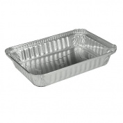 Handi-Foil 206130 22cm Length by 15cm Width by 3.2cm Depth 1.5 lbs Oblong Aluminium Container