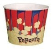 Red 2510ml Popcorn Cup, 300/Case