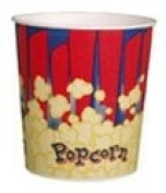 Red 3840ml Popcorn Cup, 300/Case