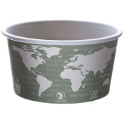 World Art PLA-Lined Soup Containers in Grey / White