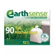 Webster Earthsense Recycled Can Liners, 49.2ls, White, 90 Bags/Box (GES6K90) - Set Packs