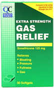 Quality Choice Extra Strength Gas Relief Simethicone 125mg. Softgel 30 Count , Boxes