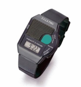 Talking Wrist Watch w/Alarm E Z to See and Press Blue Button for Time