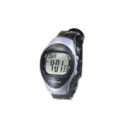 Man's Modern 4 Alarm Talking Watch , Silver and Black
