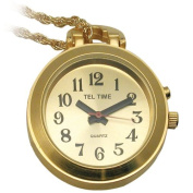 Ladies Pendant Talking Watch Golden with Chain