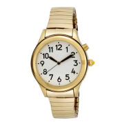 Ladies Gold Tone Talking Watch White Face - Choice of Voice
