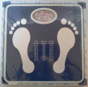 New Analogue Bathroom Bath Body Weight Scale Easy to Read
