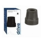 Drive Medical 2.2cm Replacement Cane Tips, Black - 1/ PolyBag