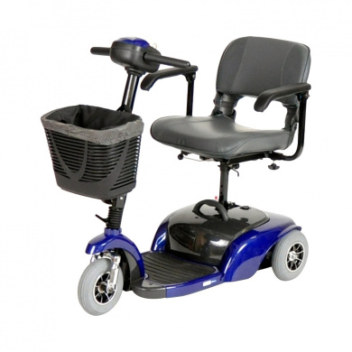 Spitfire 1310 3 Wheel Compact Size Scooter - Midnight Blue, Folding Seat