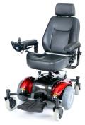 """Intrepid Standard Power Wheelchair - 22"""", Metallic Red"""