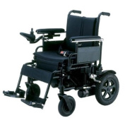 Cirrus Plus Folding Power Wheelchair with Footrest and Batteries in Black Seat Size