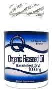 Organic Flaxseed Oil (Emulsified Dry) 1000mg 200 Capsules ^GLS