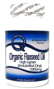 Organic Flaxseed Oil High Lignan (Emulsified Dry) 1000mg 100 Capsules ^GLS