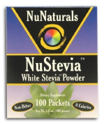 NuNaturals NuStevia; White Stevia; Powder 100 Packets