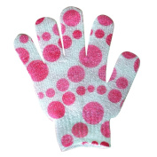 Pink Bubble Day Spa Bath Mitt Gloves - Pair