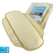 Bid Buy Direct Brand New - Memory Foam Bath Pillow - Soothing And Relaxing Bath Pillow - Ideal For Your Bath