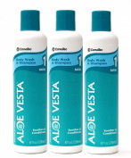 Aloe Vesta® Body Wash & Shampoo, 240ml Bottle - Pack of 3