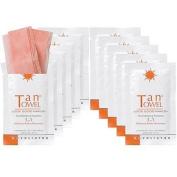 TanTowel The Exfoliating Towelette 7.6cm 1 Exfoliator, Buffer, Moisturiser 10 Towelettes