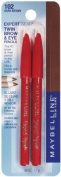 Maybelline New York Expert Wear Twin Brow and Eye Pencils, 102 Dark Brown, 0ml Body Care / Beauty Care / Bodycare / BeautyCare